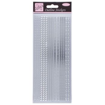 Outline Stickers - Assorted Borders - Silver