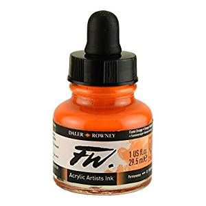 Daler Rowney Artists Acrylic Ink - Flame Orange
