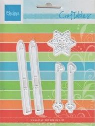 Marianne Design Craftables Dies - SKIS & SNOWFLAKE