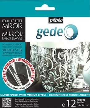 Gedeo Silver Mirror Effect 12 Leaves 14cm x 14cm