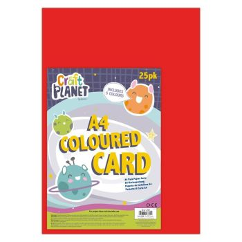 A4 Card (25pk) - Multi Coloured