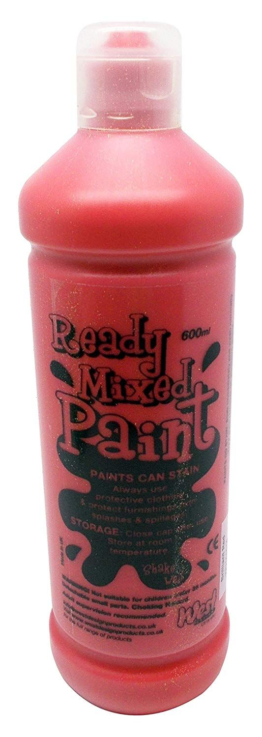 Ready Mixed Poster Paint 600ml - Brilliant Red
