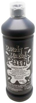 Ready Mixed Paint 600ml - Black