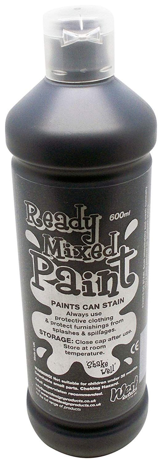 Ready Mixed Poster Paint 600ml - Black