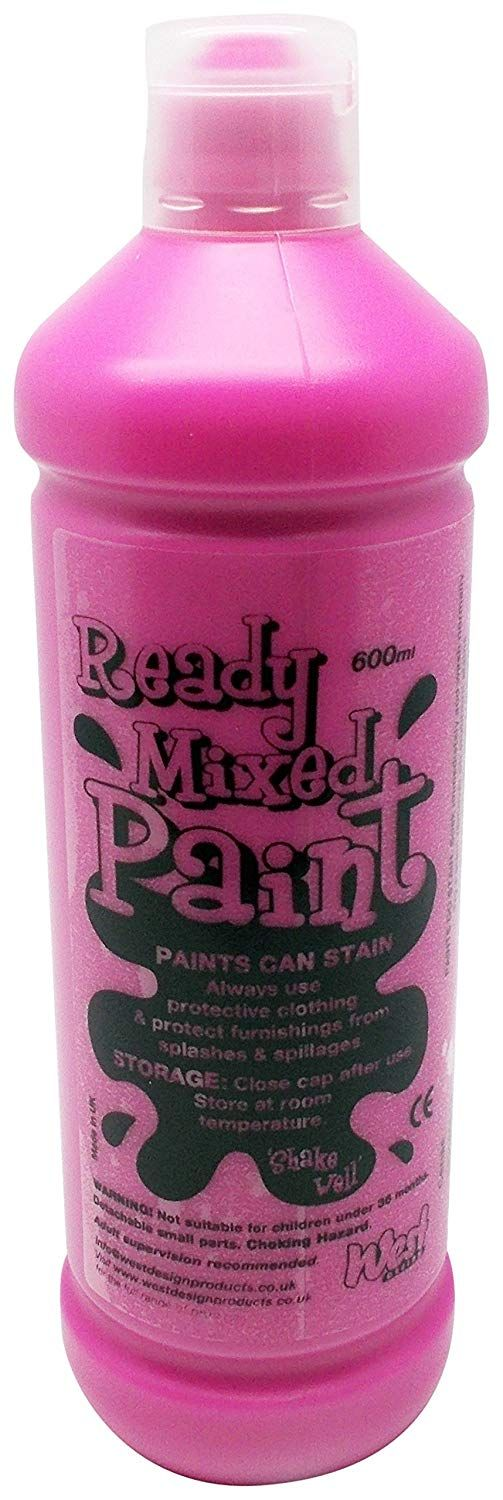 Ready Mixed Poster Paint 600ml - Cerise
