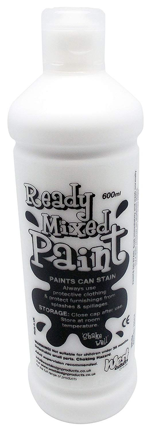 Ready Mixed Poster Paint 600ml - White