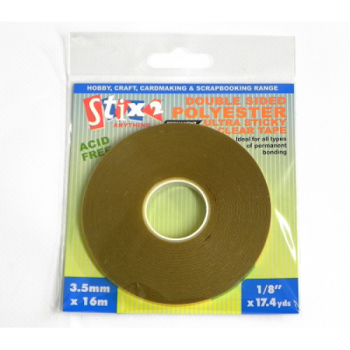 Stix2 Double Sided Polyester Ultra Sticky Clear Tape 6X16m