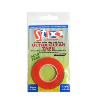 Stix 2 Ultra Clear Tape - 6mm x 5mm