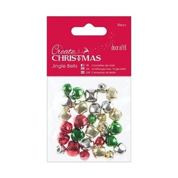 Jingle Bells - Assorted Colours and Sizes (30pcs)