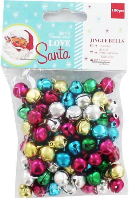 Docrafts Papermania LOVE SANTA ~ Jingle Bells (100pcs)