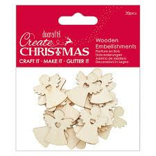 Create Christmas - Wooden Embellishments 20pcs - Angels