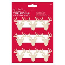 Create Christmas - Stag Silhoutte Pegs 9pcs