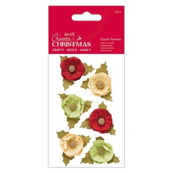 Paper Flowers (6 pcs) - Agnek - Create Christmas