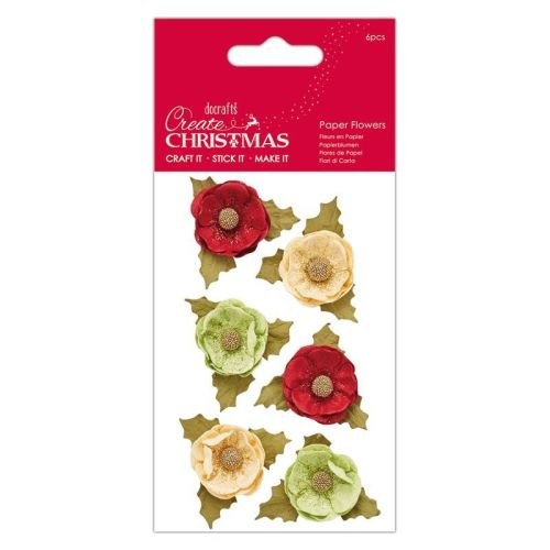 Paper Flowers (6 pcs) - Agnek - Create Christmas