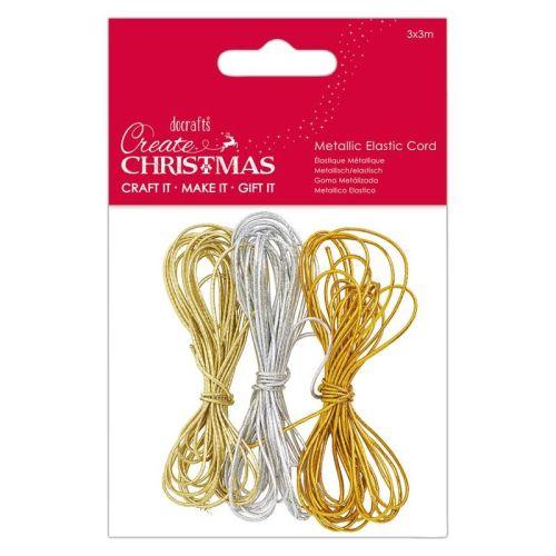 Metallic Elastic Cord (3x3m) - Create Christmas