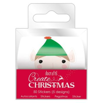 Christmas Sentiment Stickers (50 pcs) - Create Christmas