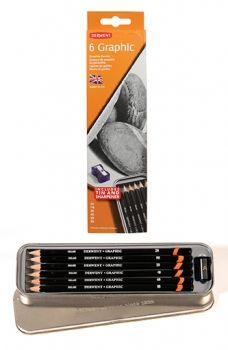 Derwent 6 Graphic Pencil Tin