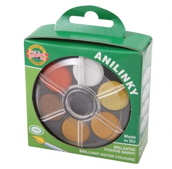 KOH-I-NOOR ANILINKY 24 Colour Brilliant Watercolour Disc Set