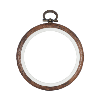 Stitch Garden Embroidery Flexi Hoop - Wood Grain effect , 3 inch (7.5 cm)