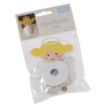 Pom Pom Angel Kit Tree Decoration Trimits Childrens Christmas Craft