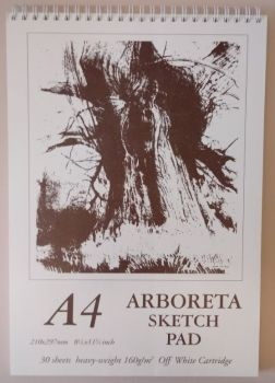 Arboreta Spiral Sketch Pad A4 (off - white)