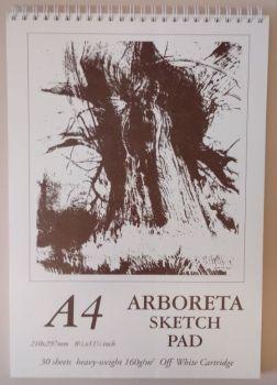 Arboreta Spiral Sketch Pad A4 (off - white)