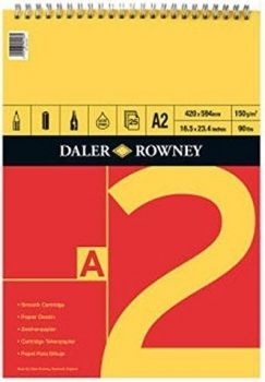 Daler Rowney Series A Spiral Pad A2 Red/Yellow