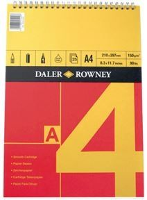 Daler Rowney Series A Spiral Pad A4 Red/Yellow (150gsm)