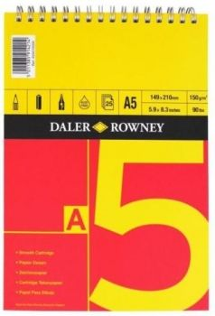 Daler Rowney Series A Spiral Pad A5 Red/Yellow