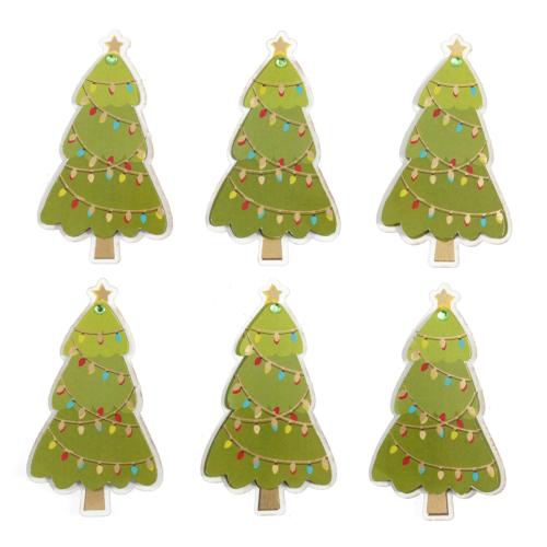 Trimits Festive Christmas Trees 6 Pieces