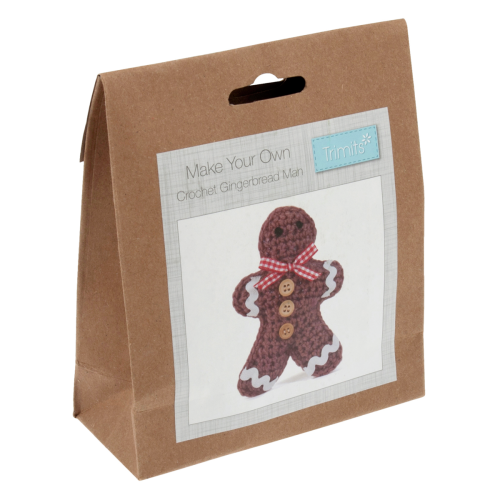 Christmas Crochet Kit, Gingerbread Man