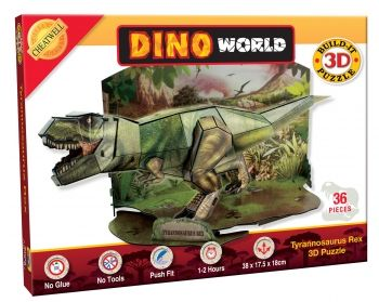 3D Dino Tyrannosaurus Rex 36 Piece Puzzle
