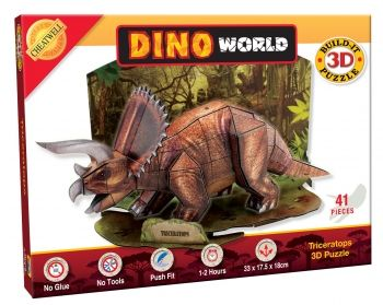3D Dino Triceratops 41 Piece Puzzle