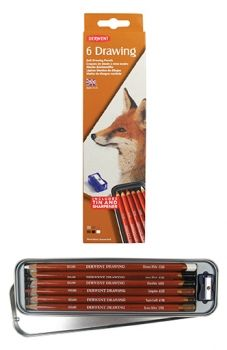 Derwent Drawing Pencil 6 tin
