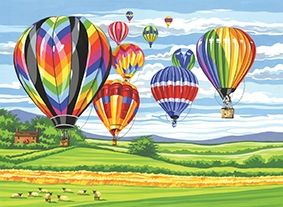 Reeves Hot Air Balloons Large Paint by Numbers