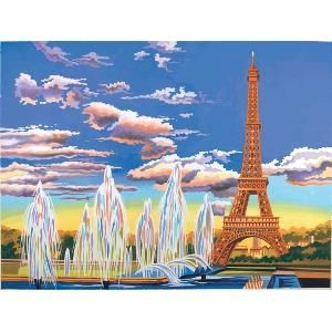 Reeves Eiffel Tower Large Paint by Numbers