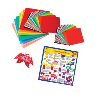 Origami Paper Small 55 Sheets Assorted sizes/colours