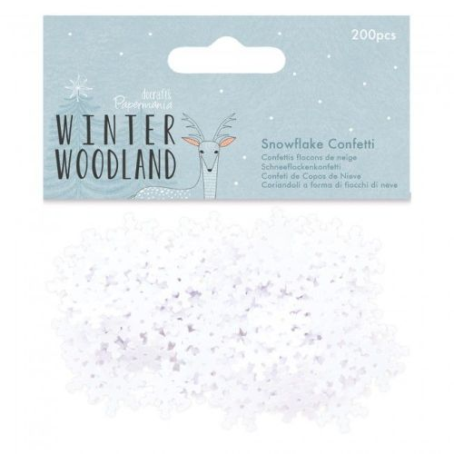 Snowflake Confetti, 200pcs - Winter Woodland