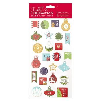 Christmas Thicker Stickers - Advent Numbers