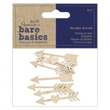 Wooden Arrows (8pcs) - Bare Basics