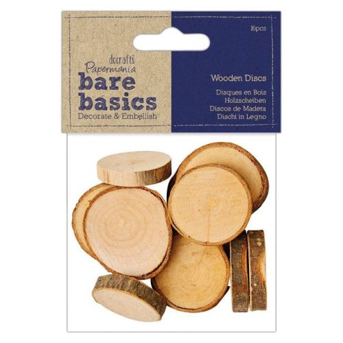 Wooden Discs (16pcs) - Bare Basics