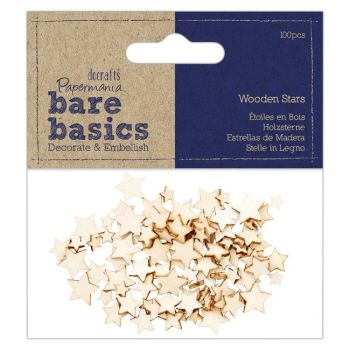 Wooden Stars (100pcs) - Bare Basics