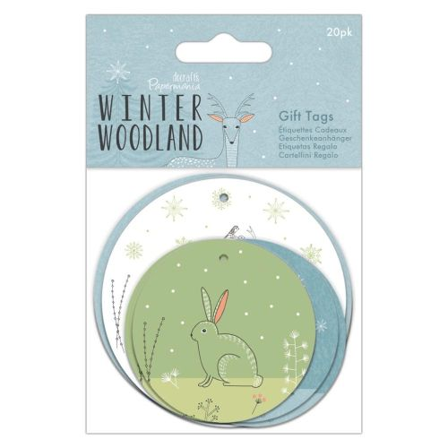 Gift Tags 20pk - Winter Woodland
