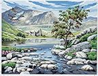 Reeves Scottish Glen Large Paint by Numbers