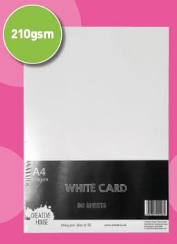 A4 210gsm White Card 50 Sheets Creative House