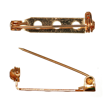 Brooch Bar Gilt 25mm