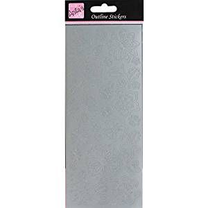 Outline Stickers - Flower Blossom - Silver
