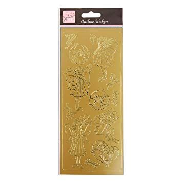Outline Stickers - Fairies - Gold