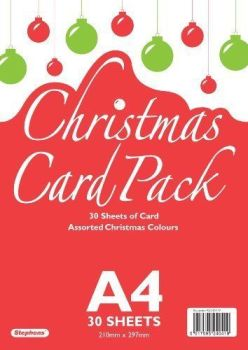 A4 Card Christmas 30 sheets