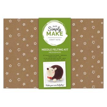 Needle Felting Kit - Simply Make - Hedgehog